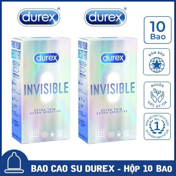 💝 02 Hộp 💝 Bao Cao Su Durex Invisible Extra Thin cực siêu mỏng [Che tên sản phẩm] nhập khẩu