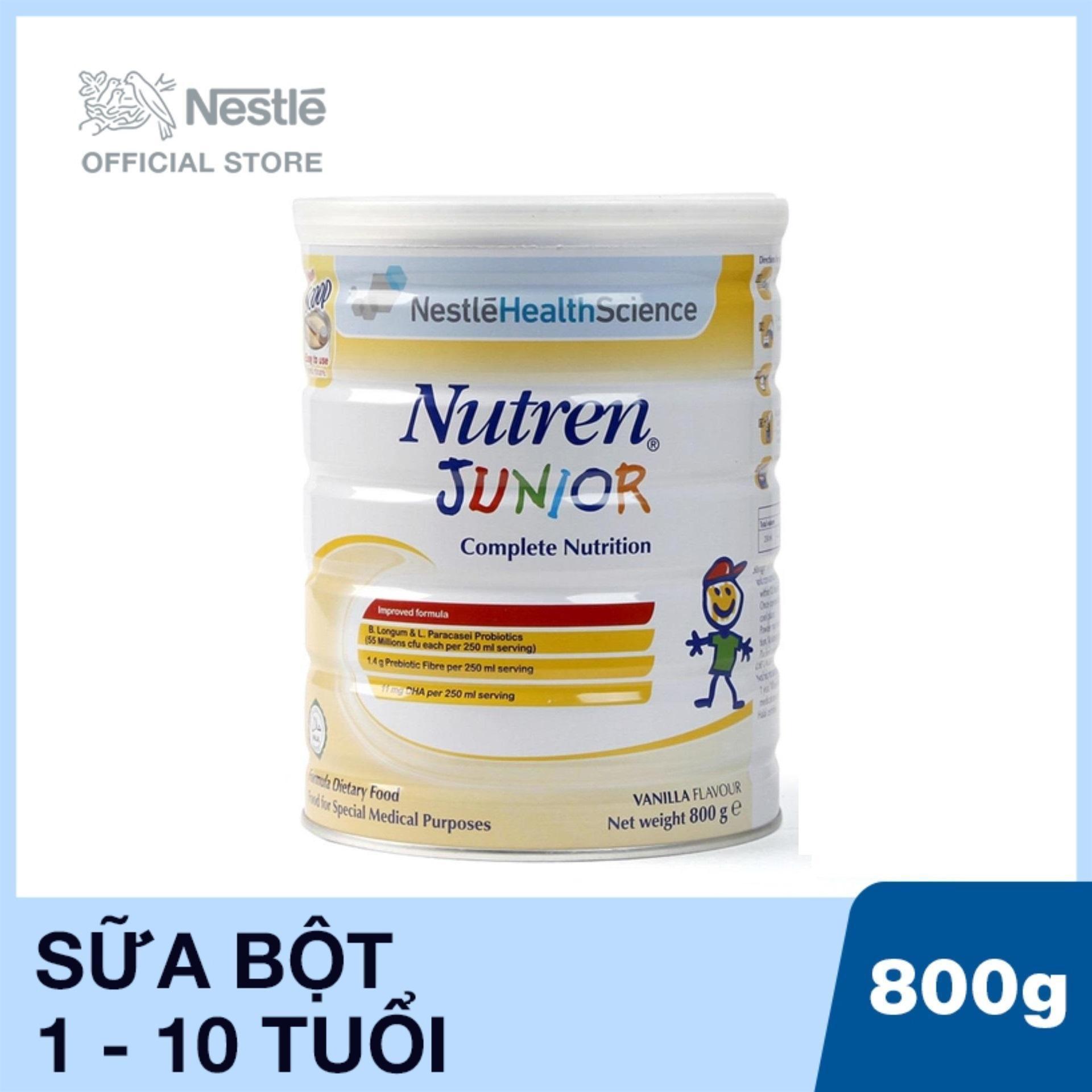 Sản phẩm dinh dưỡng y học Nutren Junior - Lon 800g