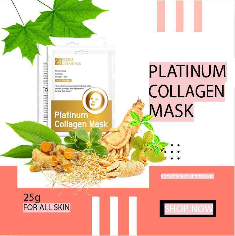 Mã Khuyến Mại Platinum Collagen Mask (mặt Nạ Collagen BOM)