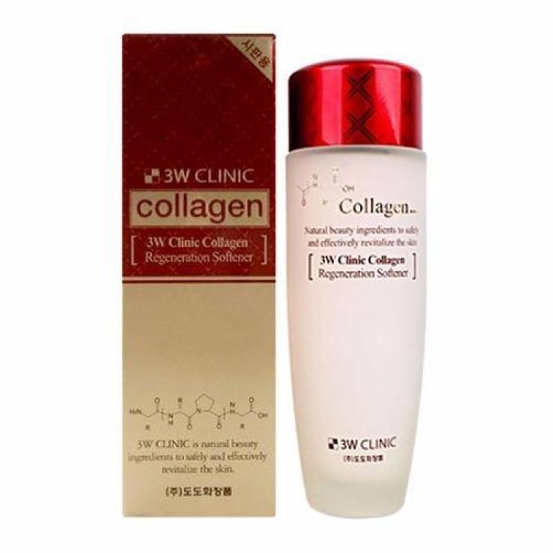 Nước Hoa Hồng Dưỡng Trắng Da Chống Lão Hóa 3W Clinic Collagen Regeneration Softener 150ml cao cấp