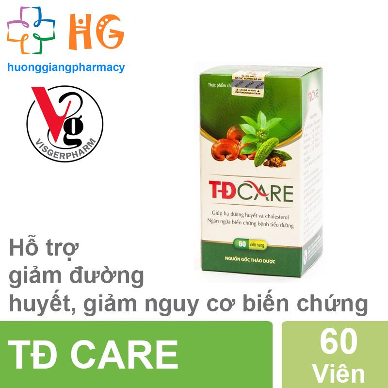 Viên Uống TĐ Care - Ổn định đường huyết, phòng ngừa biến chứng bệnh tiểu đường (Lọ 60 viên)