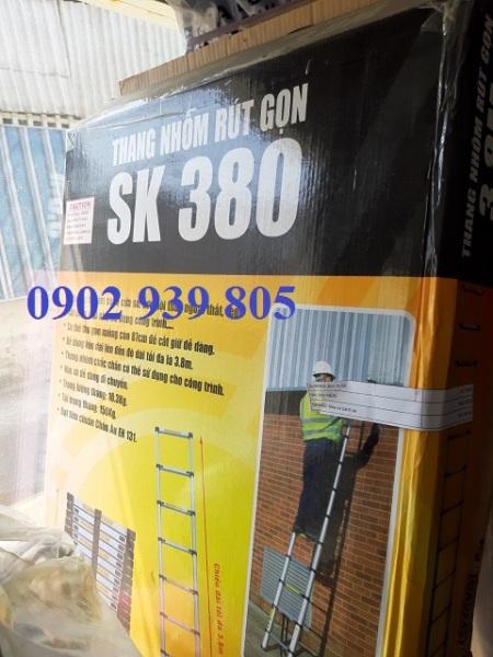 Thang ĐƠN nhôm rút gọn Sumika Model: SK380 hàng chính hãng bền đẹp tiện dụng