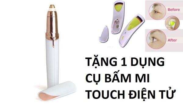 [ TĂNG 1 Dụng cụ bấm Mi Touch ĐIỆN TỬ ]  Máy tỉa lông mày, cạo chân mày, bút tỉa lông mày Flaw tốt nhất
