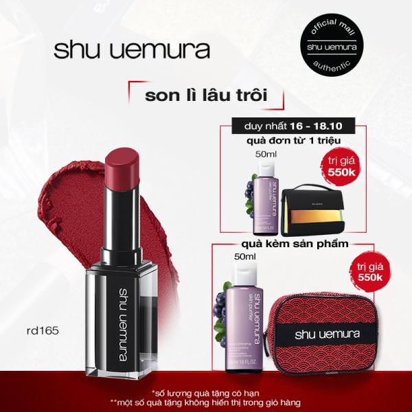 son lì lâu trôi shu uemura rouge unlimited matte lipstick 3g giá rẻ