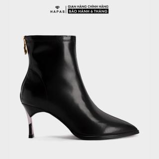 Giầy Bốt Nữ Boot Da Gót Bạc 5Phân HAPAS - BOT517