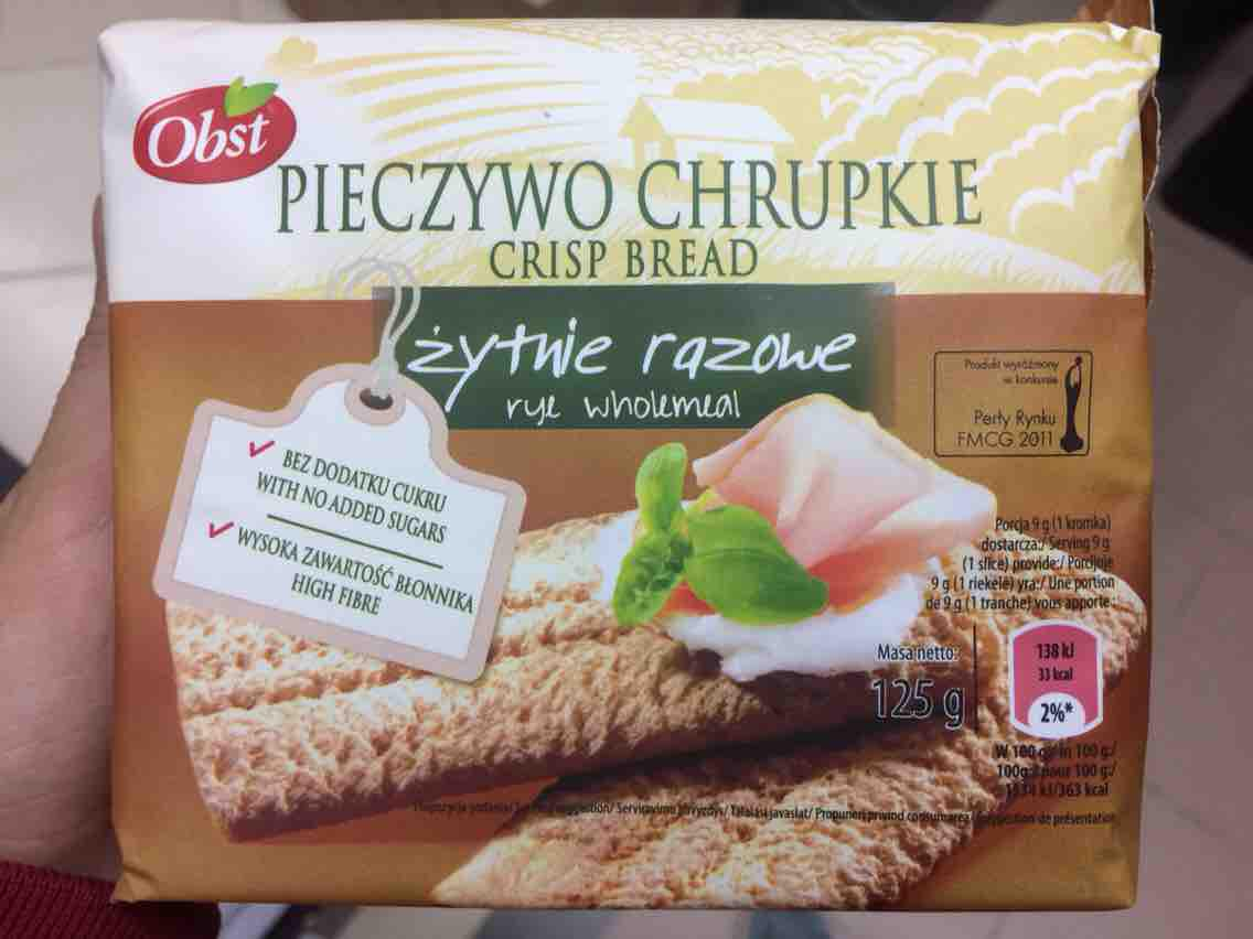 Bánh ngũ cốc OBST CRISP BREAD whole meal 125g