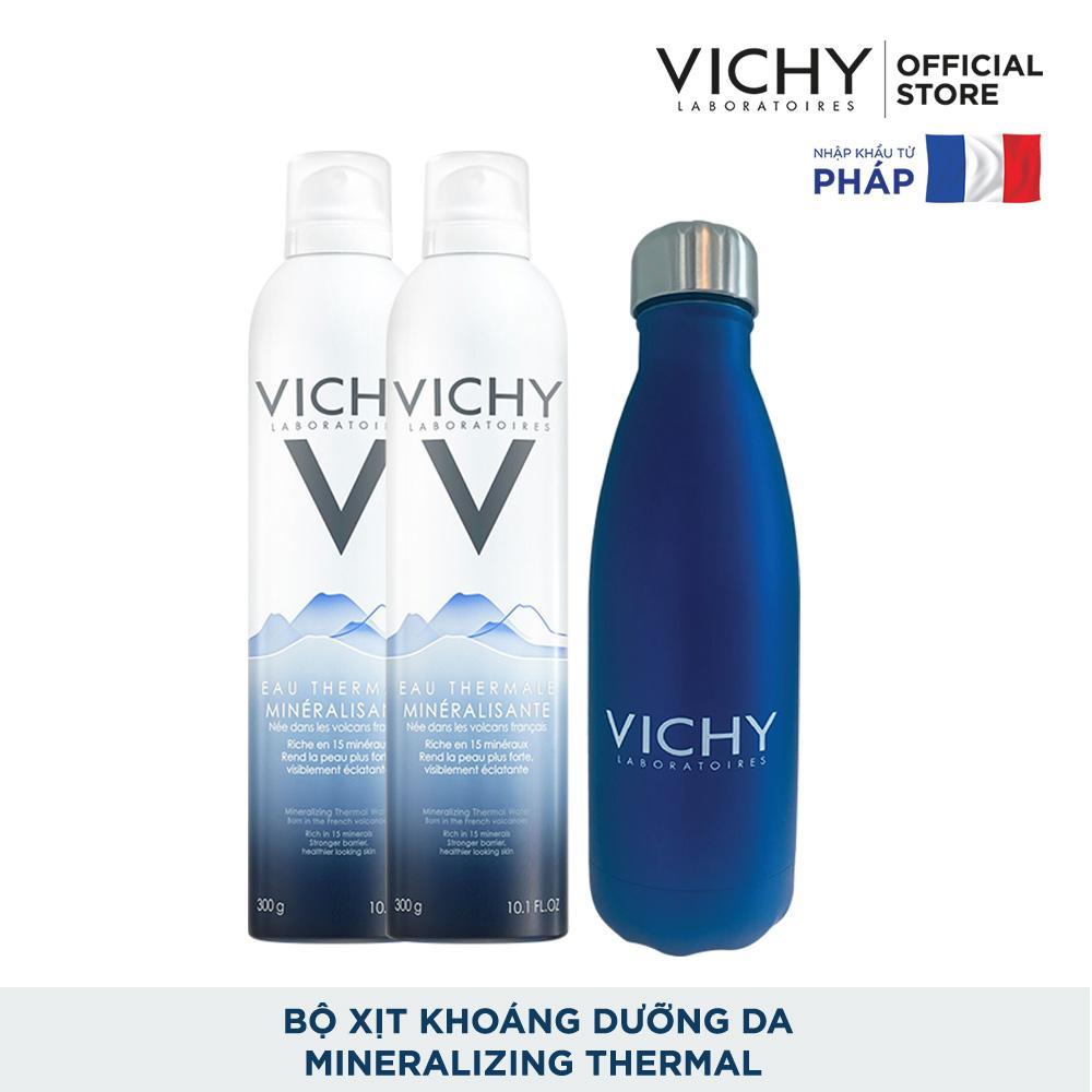 Bộ đôi xịt khoáng dưỡng da Vichy Thermal Spring Water 300ml