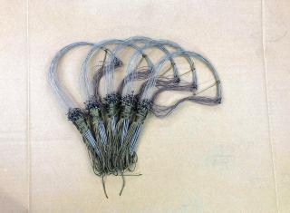 Giò bẫy gà rừng 1 bộ 20 chân ( giò đón ) cáp inox se 4 dây dù toàn bộ màu cỏ khô hàng chuẩn mua về chỉ việc sử dụng thumbnail