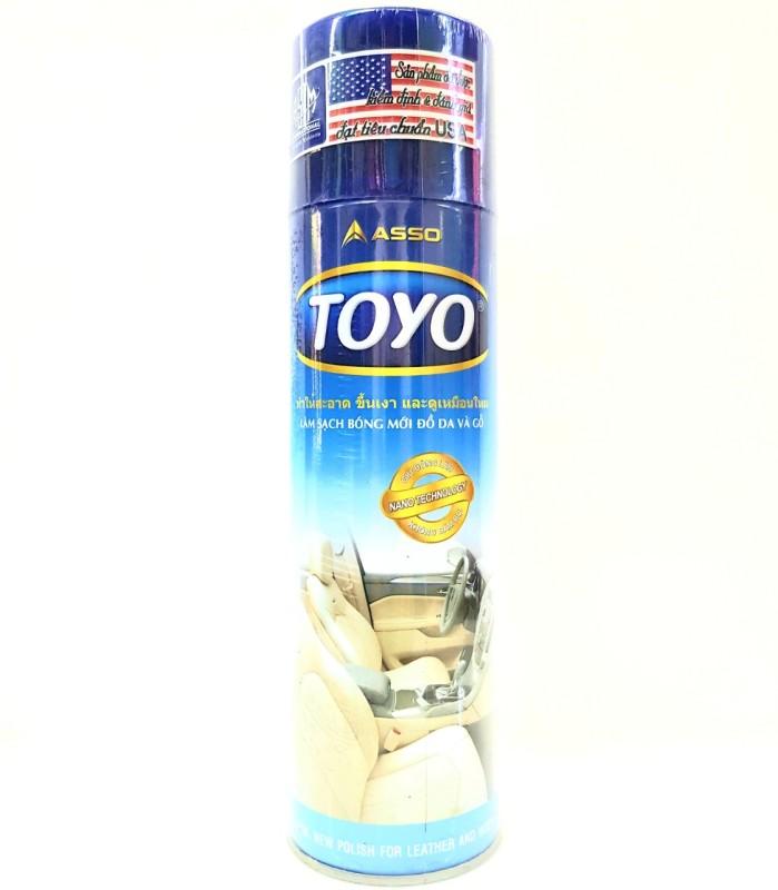 Chai xịt làm bóng đồ da và gỗ TOYO 500ml công nghệ nano, dễ dàng làm sạch, đánh bóng các loại vật dụng