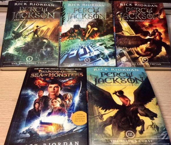 Percy Jackson & The Olympians - tiểu thuyết phiêu lưu ký - sách tiếng anh