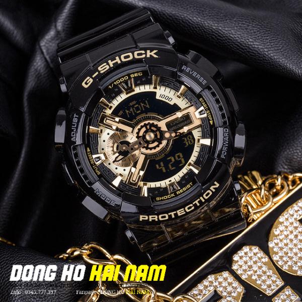 Nơi bán Đồng hồ thể thao nam G-SHOCK GA-110GB-1A + REP 11 + Dây cao su ĐEN VÀNG BÓNG + Bảo hành 2 năm + FULL BOX + ĐỒNG HỒ HẢI NAM