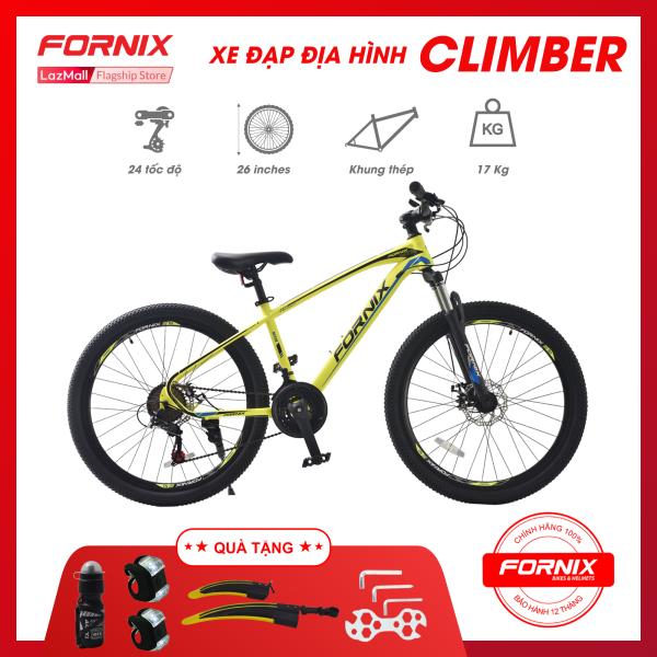 Phân phối Xe đạp địa hình Fornix Climber vòng bánh 26 inch (KÈM SÁCH HƯỚNG DẪN) -Bảo hành 12 tháng + Tặng (Đèn led trước sau - Cặp dè thể thao - Bình nước - Bộ dụng cụ lắp ráp)