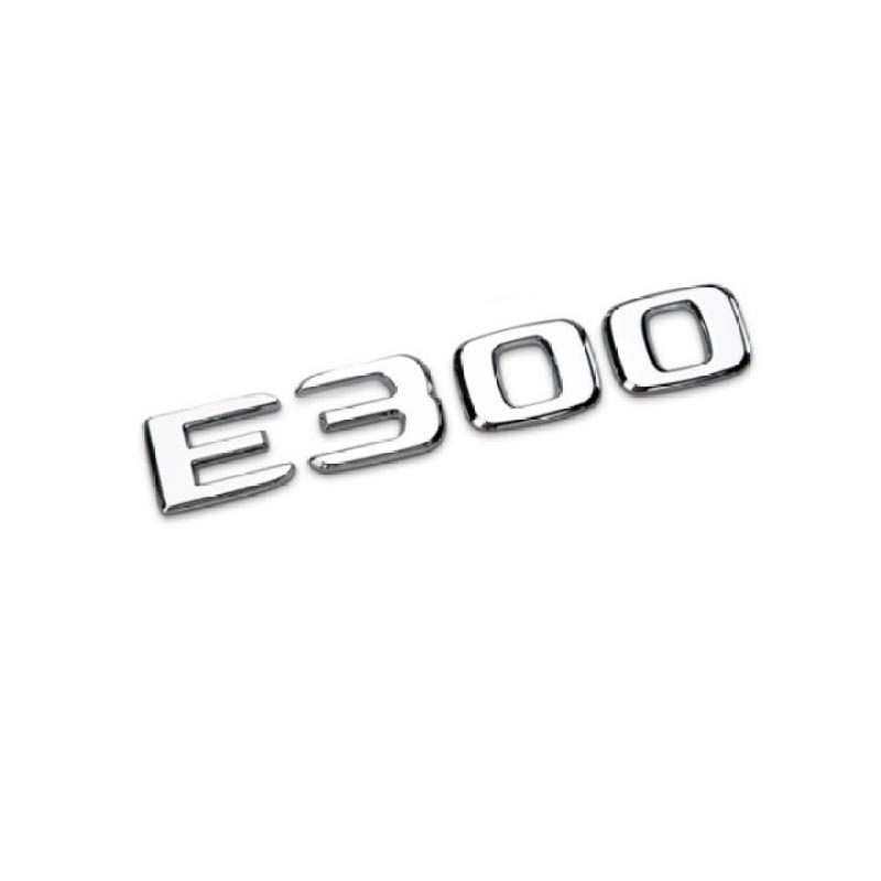 Decal tem chữ E300L dán đuôi xe ô tô