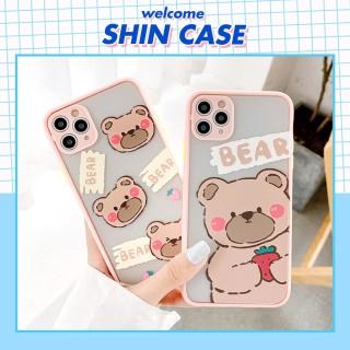 Ốp lưng iphone Shy Bear nhỏ bảo vệ camera dành cho iphone 6 6S 6Plus 6SPlus 7 7Plus 8 8PLus X Xs XR XSmax 11 11Pro 11Promax - ShinCase - V10 thumbnail