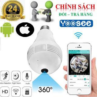 Camera wifi bóng đèn HD-2.0MP xem 360 độ, 3 led phát sáng+ 01 đui đèn cao cấp BH 2 Năm thumbnail