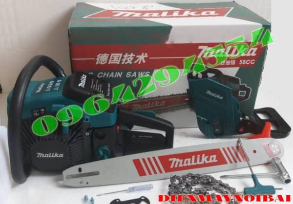 Máy cưa gỗ MALIKAV 58CC- Máy cưa gỗ cầm tay mini, máy cưa xích chạy xăng, máy cưa cây