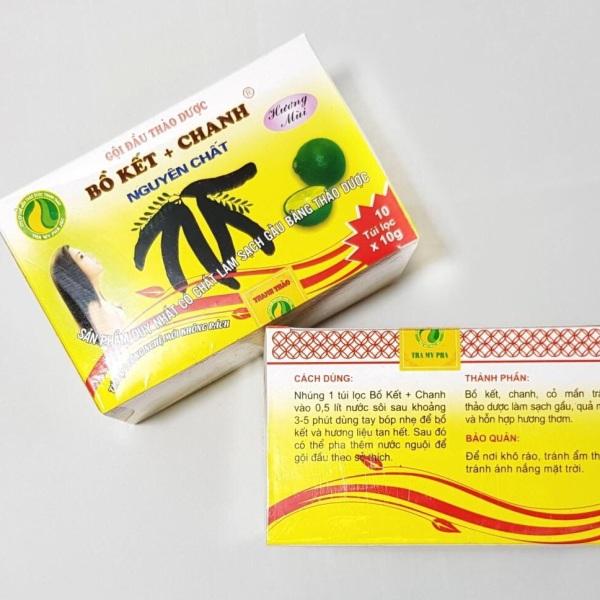 Thảo dược gội đầu túi lọc Bồ kết+ Chanh nguyên chất