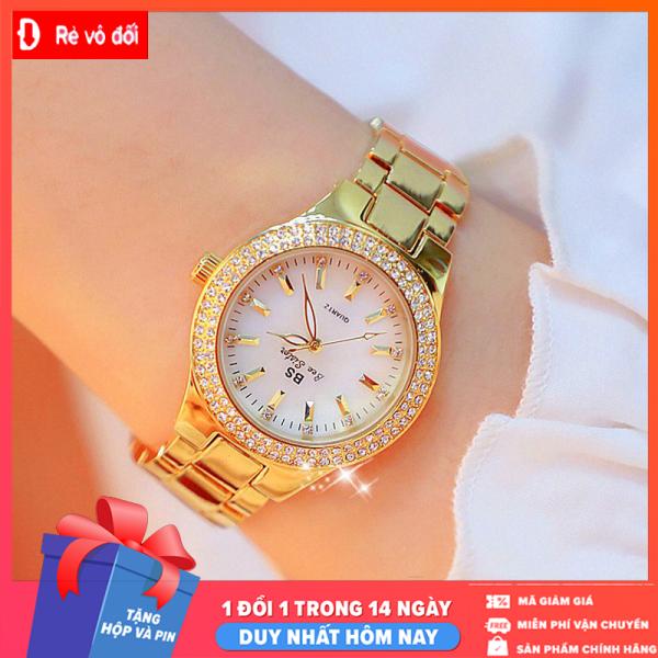 [MIỄN PHÍ GIAO HÀNG] Đồng hồ nữ sang trọng thời trang BS BEE SISTER Đính đá siêu đẹp - Chống Nước Tốt -  Tặng hộp sang trọng và pin dự phòng  - Sam Shop