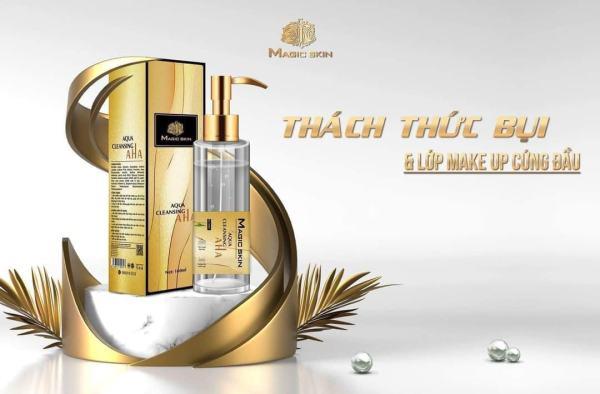 Nước tẩy trang - Nước tẩy trang dịu nhẹ Aqua Cleansing AHA chính hãng Magic skin nhập khẩu
