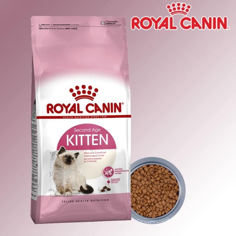 [HÀNG CÓ SẴN] Thức Ăn hạt khô cho MÈO ROYALCANIN KITTEN 36 cho Mèo con 4-12 tháng tuổi - Túi Zip 200gr - 500gr - 1kg
