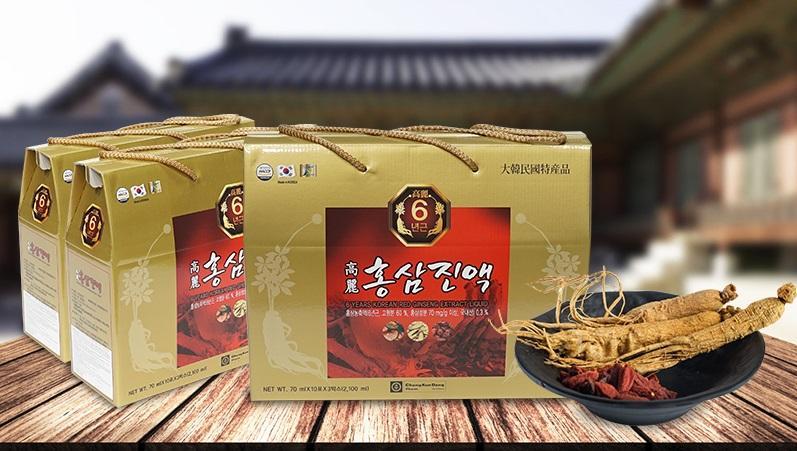 Nước hồng sâm 6 tuổi nhập khẩu Hàn Quốc 30 gói x 70ml