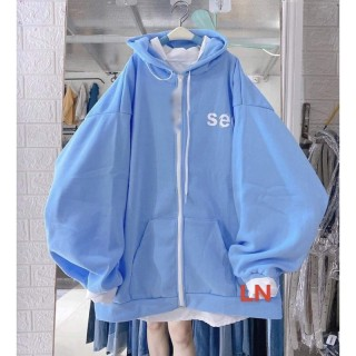 Áo khoá nỉ SEE đa màu LN12 Áo thun nam nữ, quần kaki, quần nữ, sét bộ mặc ở nhà, áo thun tay dài, quần jean ống rộng - LEEDA thumbnail