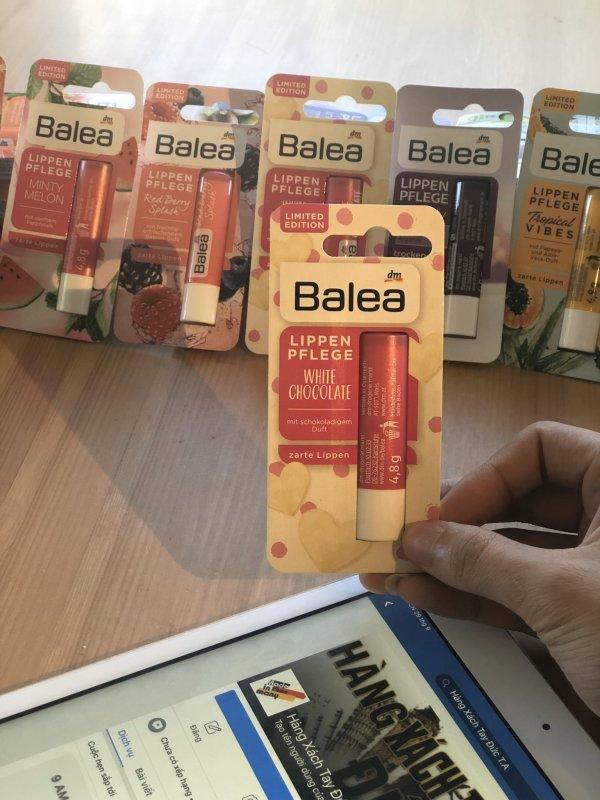 Dưỡng môi BALEA WHITE CHOCOLATE  màu chocolate - Dưỡng môi BALEA - Son dưỡng môi chuẩn hàng Đức - Mỹ phẩm Đức