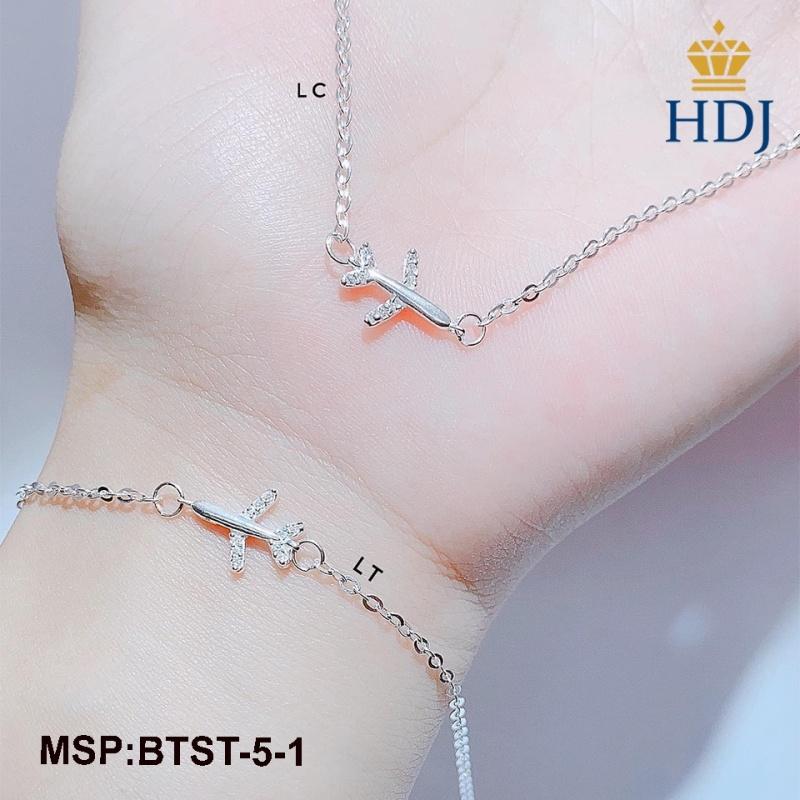 Bộ trang sức bạc nữ hình máy bay sang trọng trang sức cao cấp HDJ mã BTST-5-1