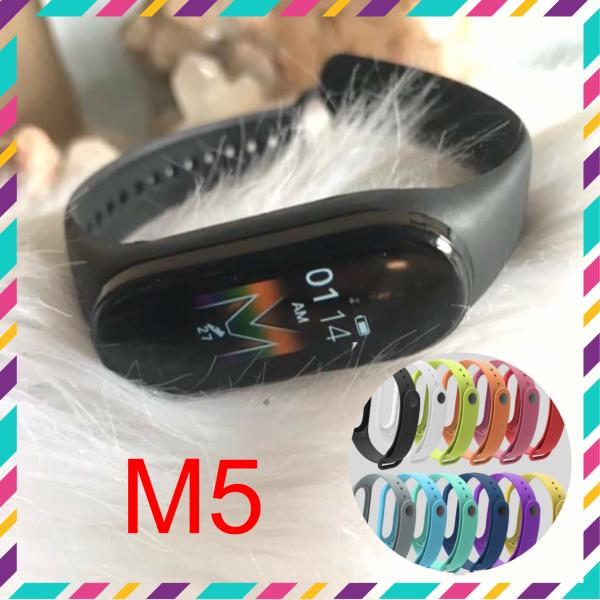 Giá Vòng đeo tay thông minh M5 Mi Band. Tặng kèm dây đeo thay thế. Tiện tích theo dõi sức khoẻ, thông báo cuộc gọi, nhắn tin, facebook, zalo. Có chống nước. Bảo hành 6 tháng