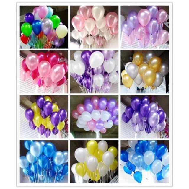 100 Bong Bóng Bay Balloon Hình Tròn - Bong Bóng Nhiều Màu Loại Tốt -Loại 30cm-35cm Khuyến Mại Hot