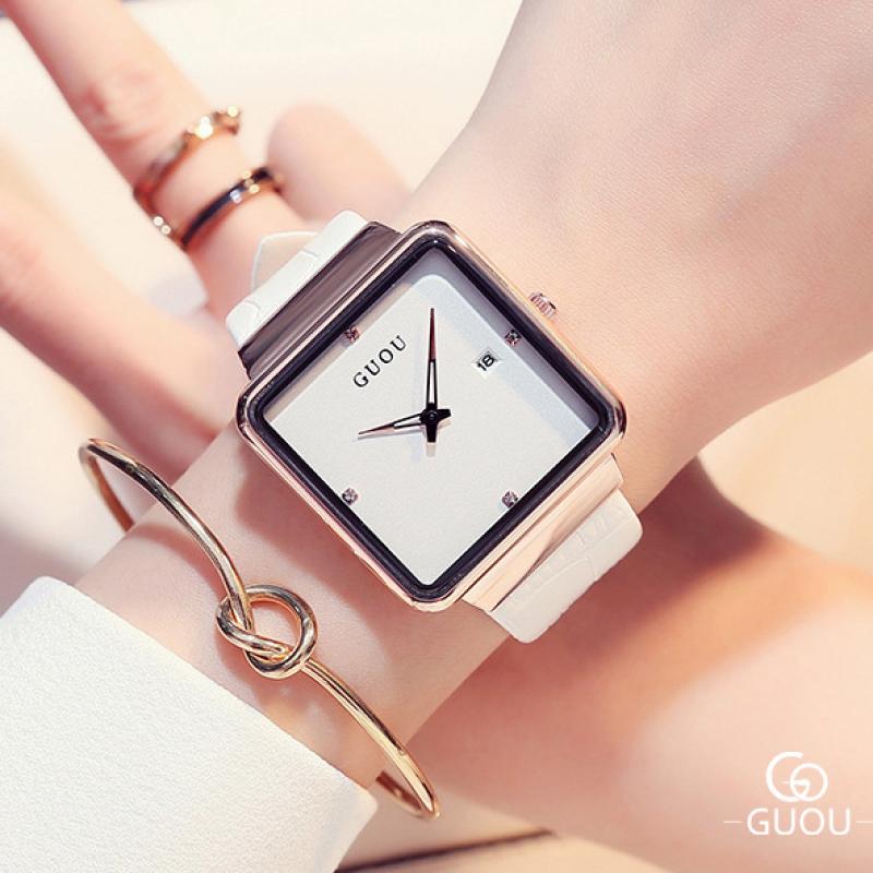 Đồng hồ Nữ GUOU Dây Mềm Mại đeo rất êm tay - Kiểu Dáng Apple Watch 40mm , Đồng hồ nữ cao cấp, Đồng hồ nữ kính sapphire, Đồng hồ nữ hàn quốc, Đồng hồ nữ thời trang, Đồng hồ nữ giá rẻ, Đồng hồ nữ chống nước, Đẹp