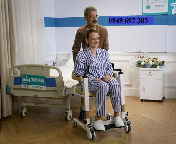 Ghế bô đa năng dịch chuyển bệnh nhân ghép 2 mảnh