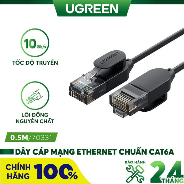 Bảng giá [Nhập ELMAY21 giảm thêm 10% đơn từ 99k] Dây cáp mạng Ethernet chuẩn CAT6A đầu cắm RJ45 siêu mỏng, hỗ trợ tốc độ nhanh lên đến 10Gbps, băng thông 500MHZ, dài từ 0.5-10m UGREEN NW122 Phong Vũ