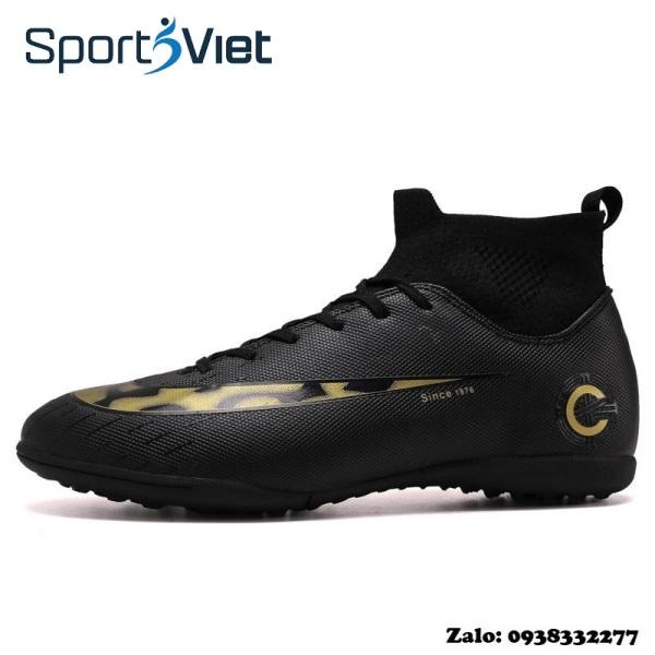 Giày đá banh, giày đá bóng, giày bóng đá - giày đinh đá bóng sân cỏ nhân tạo cổ chun co giãn 4 chiều cao cấp HAMISHU