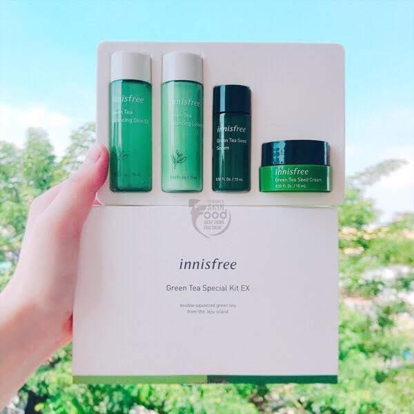 [Auth - Mẫu Mới 2019] BỘ KIT TRÀ XANH INNISFREE GREEN TEA SPECIAL KIT EX 2019 Edition (4 items) tốt nhất