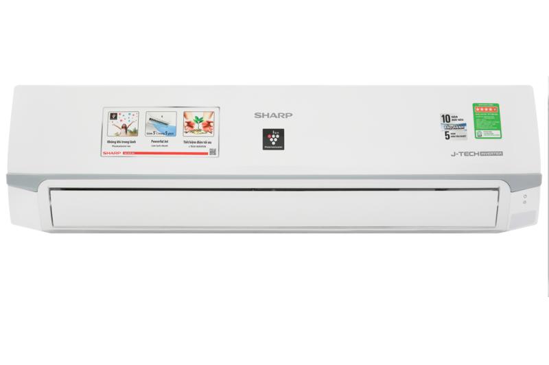 Máy lạnh Sharp Inverter 2 HP AH-XP18WMW - Công suất làm lạnh 18.000 BTU, Chế độ làm lạnh nhanh Powerful Jet, Từ 20 - 30 m2, Chế độ Breeze (gió tự nhiên) Phát ion lọc không khí Có tự điều chỉnh nhiệt độ (chế độ ngủ đêm)