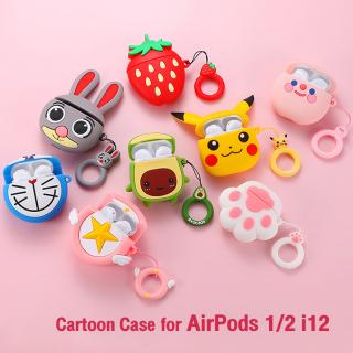 Cartoon Cute Silicone Case for Airpods 2 Gen, Case tai nghe Hộp bảo vệ tai nghe Bluetooth với họa tiết hình hoạt hình siêu dễ thương, chất liệu silicone bền thumbnail