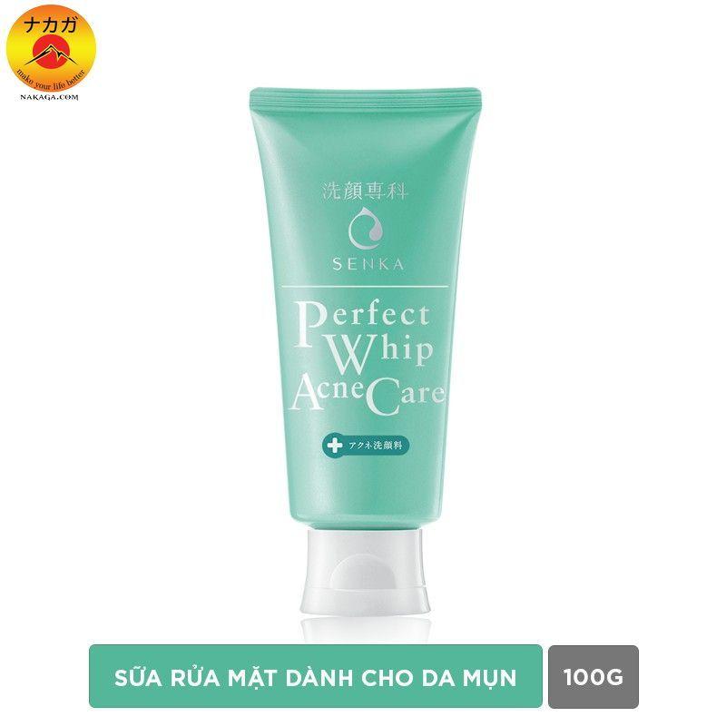 Sữa rửa mặt giảm mụn Senka Perfect Whip Acne Care 100g giá rẻ