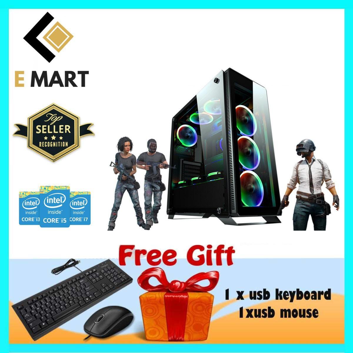 Trâu Cày Game Cao Cấp Core I3 3220, Ram 12gb, Ssd 240gb, Hdd 4tb, Vga Gtx1050ti 4gb Emgp75 + Quà Tặng By E Mart