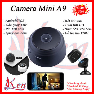 Camera mini - Camera mini siêu nhỏ wifi - Camera wifi - Camera siêu nhỏ - Camera an ninh - Camera A9 thumbnail