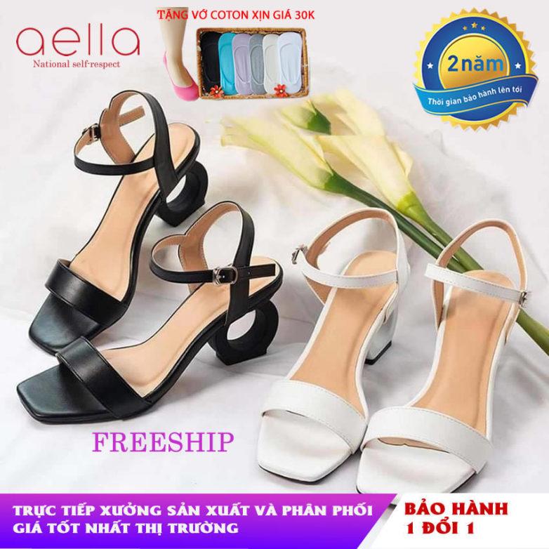 Giày cao gót nữ gót nhẫn 5cm AELLA AE001 - Da siêu mềm mịn , êm ái tuyệt đối - Giày sandal nữ cao gót, giày cao gót 5cm giá rẻ
