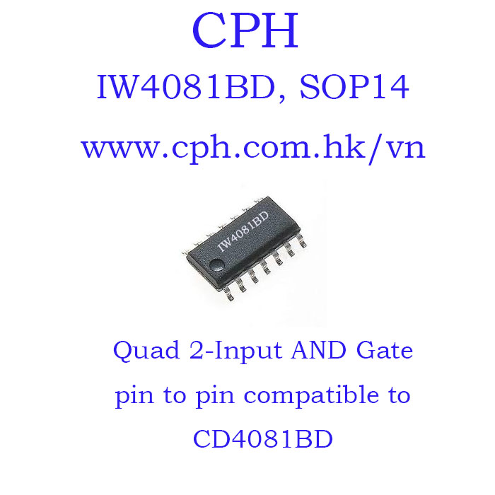 Giá 5pcs IW4081BD CD4081BD IW4081 CD4081 SOP14 IKSemicon Quad 2-Input AND Gate