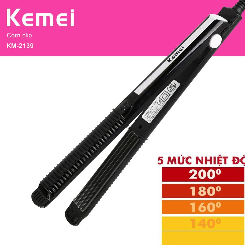 Máy duỗi tóc,là tóc 5 mức chỉnh nhiệt KEMEI 2139 nhập khẩu
