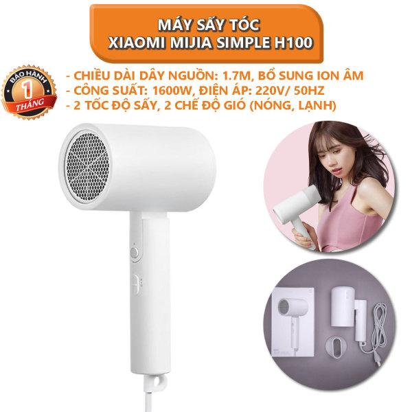 [Voucher 5% cho đơn từ 200k]Máy sấy tóc bổ sung ion âm Xiaomi Mijia Simple H100 2 chế độ, 1600W - Bảo hành 1 tháng nhập khẩu