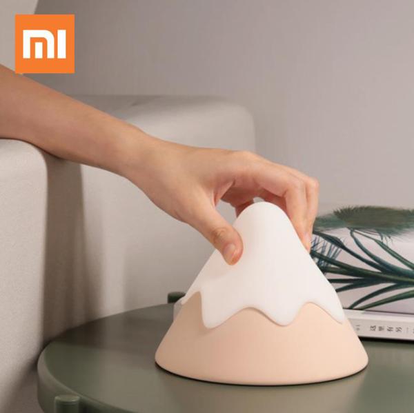 Đèn Núi Tuyết Silicon Xiaomi, Đèn Điều Khiển Âm Thanh Cạnh Giường Đèn Led Tạo Không Khí, Đèn Ngủ Bảo Vệ Mắt Sạc Usb
