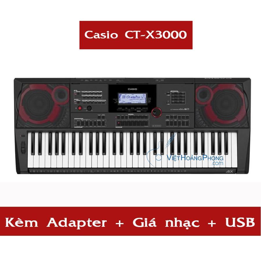 Đàn Organ Casio CT-X3000 kèm USB + AD + giá nhạc ( CTX3000 ) - NEW 100% - HappyLive Shop Nhật Bản