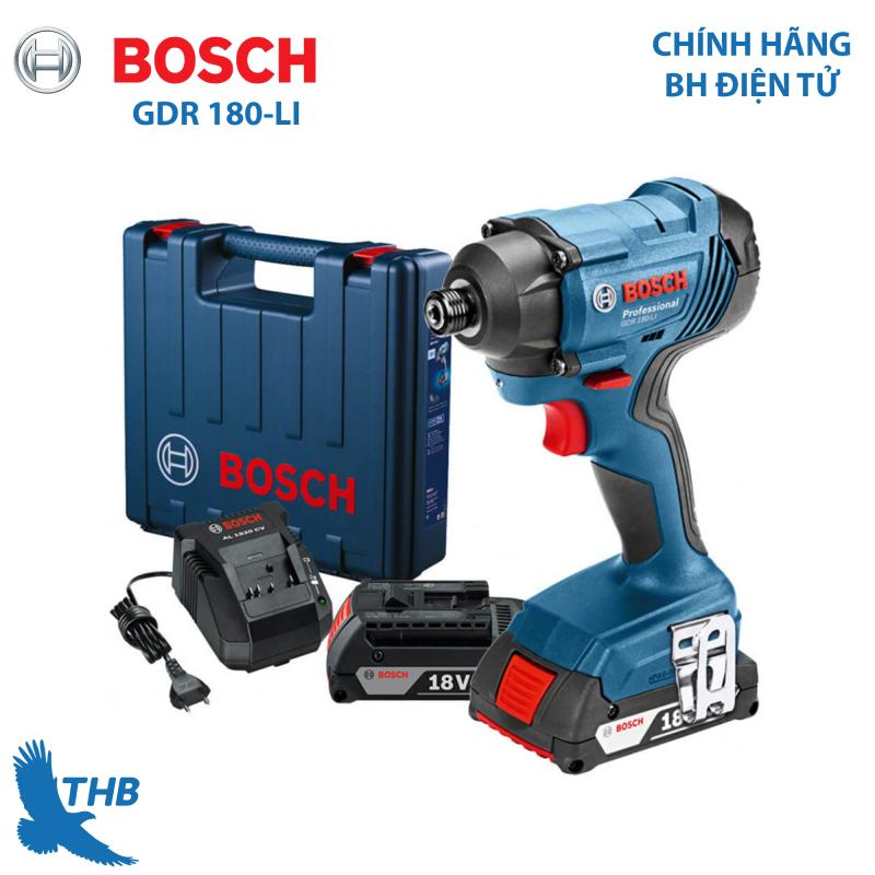 [Trả góp 0%] Máy vặn ốc vít dùng pin Máy bắt vít Bosch GDR 180 LI giá tốt chính hãng bảo hành 6 tháng Pin 18V-1.5Ah