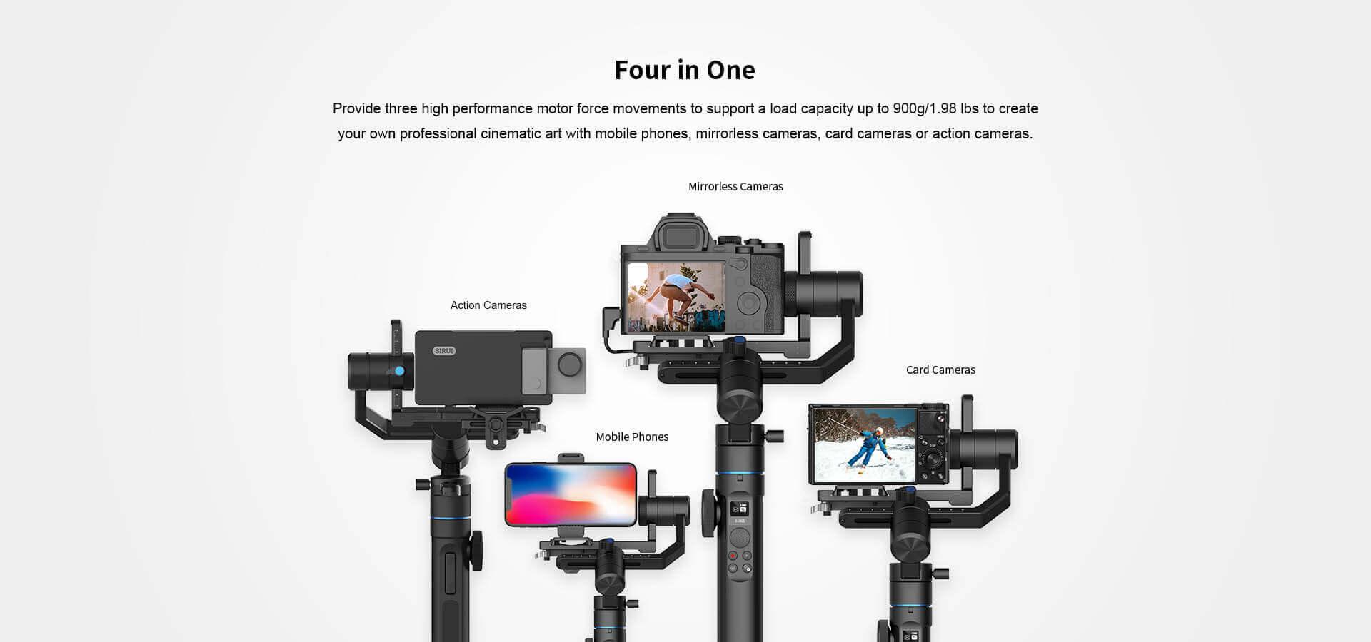 Giá Gimbal cho Smartphone và máy ảnh Mirorless SIRUI Swift P1