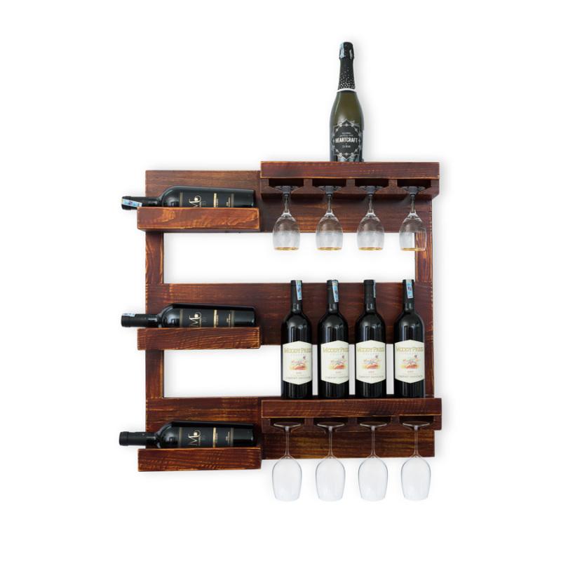Kệ Rượu Treo Tường KR29