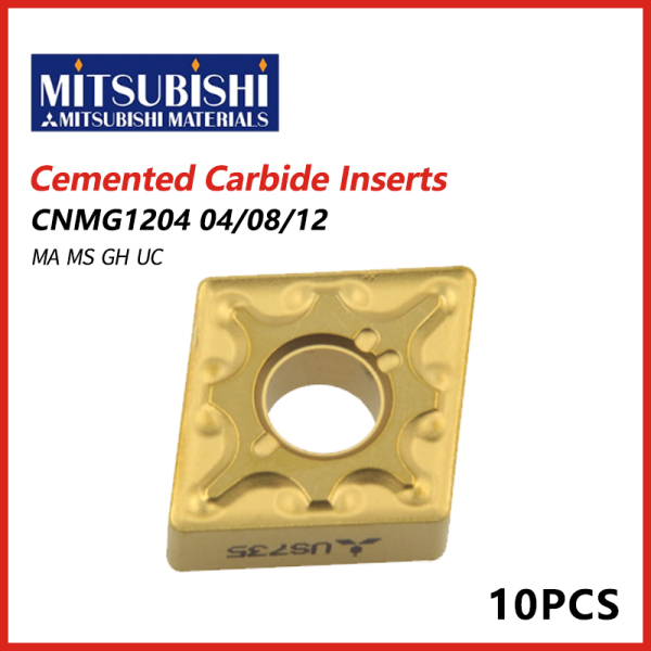 Mitsubishi Cemented Carbide Inserts CNMG1204 04/08/12  MA MS GH UC